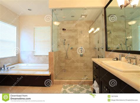Large Standing Shower Large Master Bathroom Royalty Free Stock Images Image