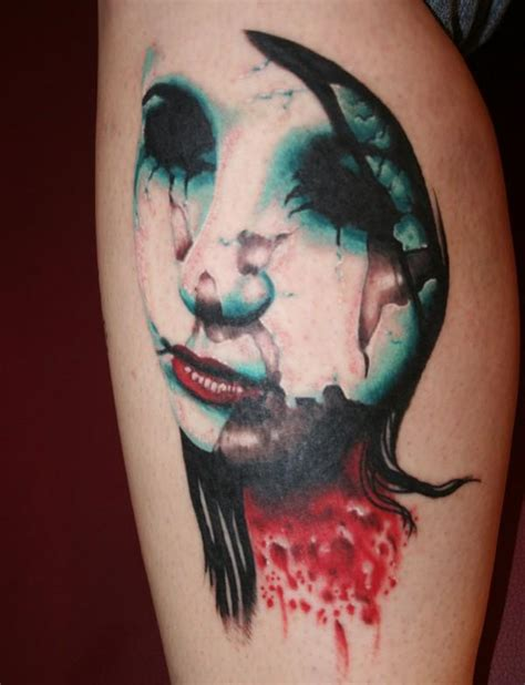 tattoo ideas zombie wax faced by eddylee13 on deviantart