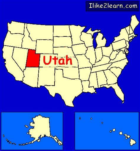 usa states map utah utah
