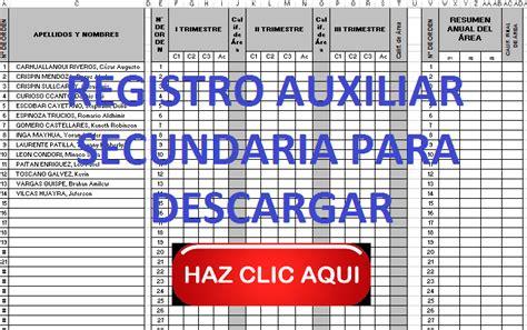 registro auxiliar 2do grado de primaria 2016 registro auxiliar secundaria para descargar preg 250 ntale