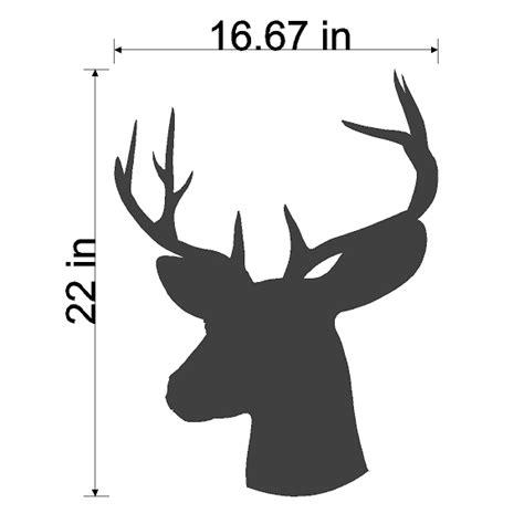 large printable reindeer head reindeer head silhouette printable www imgkid com the