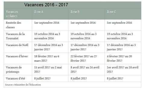 Vacances Scolaires 2016 2018 Dates Des Vacances Scolaires En Zone Par Zone