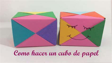 figuras geometricas hechas en cartulina como hacer un cubo de papel figura geometrica youtube