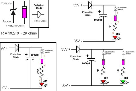 simple capacitor led circuit simple led circuit to confirm when a capacitor is charged general chat discussion uk