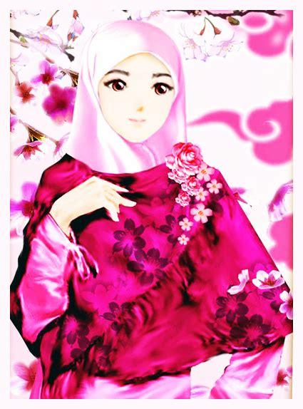 wallpaper animasi cantik gambar dp bbm animasi muslimah bergerak terbaru kochie frog