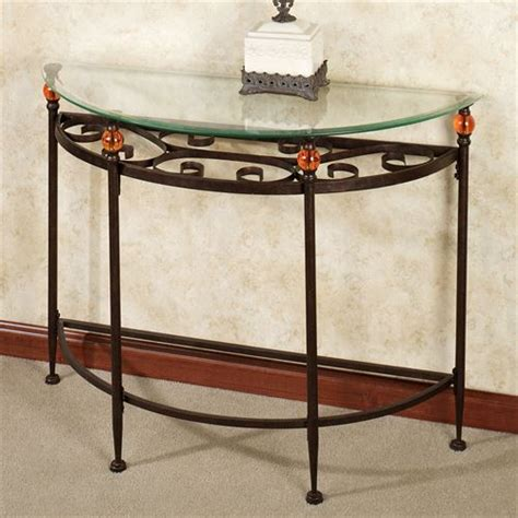 Glass And Metal Sofa Table Adele Metal And Glass Console Table