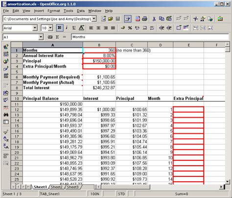 Mortgage Calculator Spreadsheet Amortization by Untitled Amortization Spreadsheet