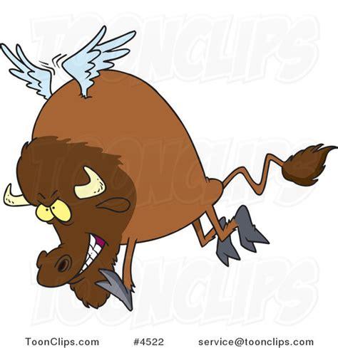 buffalo chicken cartoon buffalo with wings 4522 by ron leishman