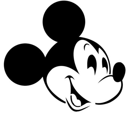 mickey stencil clipart best