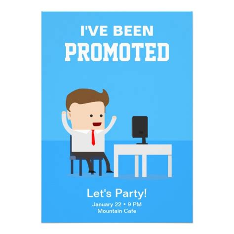 job promotion announcement party invitation zazzle com