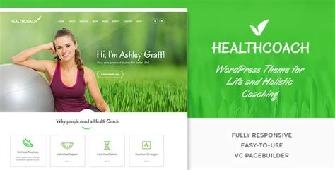 17 Beautiful Health And Beauty Wordpress Themes Desiznworld Health Coach Brochure Templates