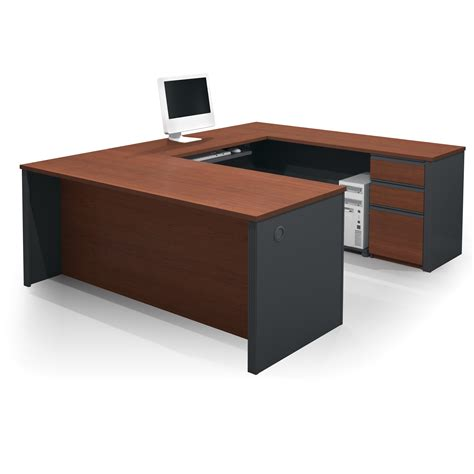 shaped desk bestar prestige u shaped desk