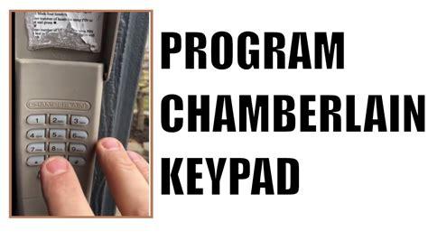 chamberlain garage door opener keypad blinking dandk