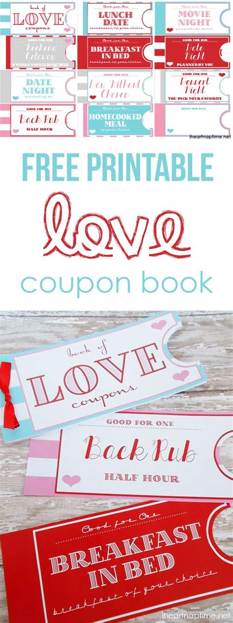 printable love coupons for him printable love coupon book ideas for valentines day nap