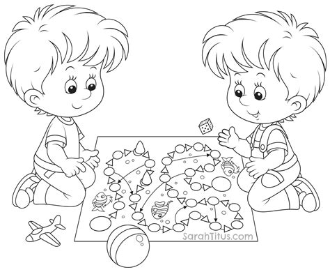 Kids Playing Coloring Pages Children Playing Colouring Pages Free Coloring Pages For Kids Coloring Pictures Of Children