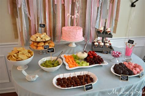 table foods for baby shabby chic baby shower my of style my of style