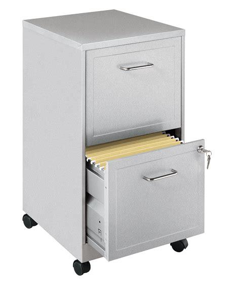 Office Designs Black 2 Drawer Mobile File Cabinet by Office Designs Metallic Silver 2 Drawer Mobile File Cabinet
