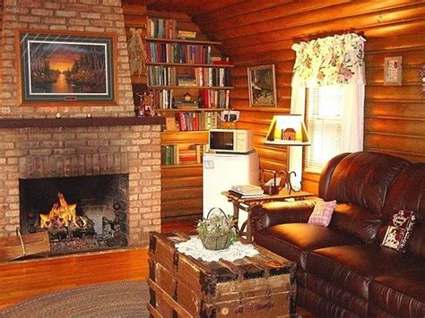 bed and breakfast in wisconsin living room area of the log cabin suite picture of lazy