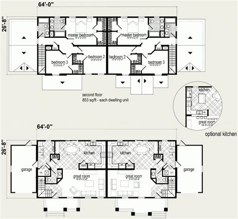 Floor Plans For Multi Family Homes by Modular Homes Multi Family Kennedy Duplex