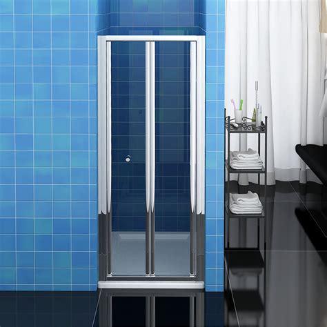 Bathroom Bi Fold Shower Door 900mm Enclosure Cubicle Glass Folding Glass Shower Door