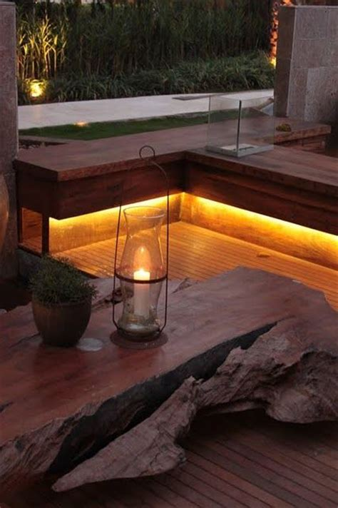 lighting decks and benches on pinterest