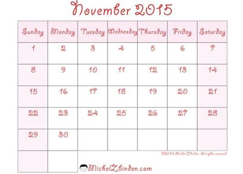 printable google calendar 2015 printable calendar for november 2015 google search