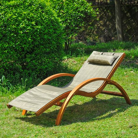Wooden Pool Lounge Chairs by Wooden Patio Chaise Lounge Chair Outdoor Furniture Pool