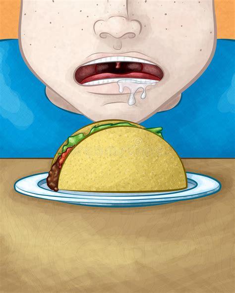 www cara cara com fome com taco ilustra 231 227 o do vetor ilustra 231 227 o de