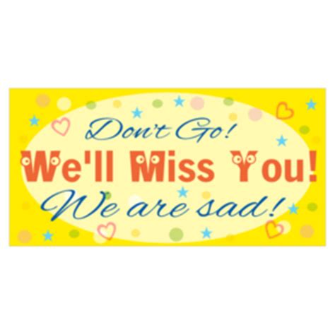 farewell banner template custom farewell going away banners printastic