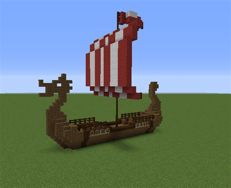 minecraft boat plans viking nordic long boat grabcraft your number one