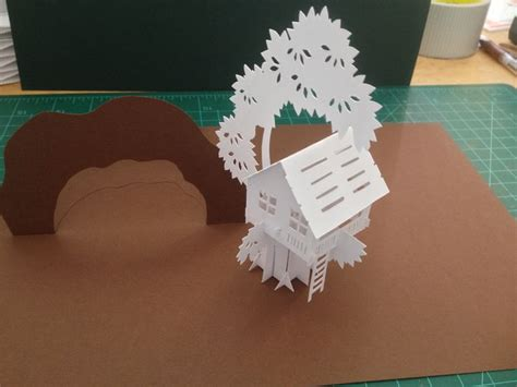 pop up tree card template tree house sliceform pop up card template from quot cahier de