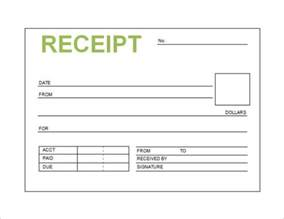 Blank Receipt Template by Free Receipt Template Word Pdf Doc Printable Calendar