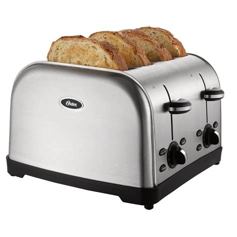 Brushed Steel Toaster Oster 174 4 Slice Toaster Brushed Stainless Steel On Oster