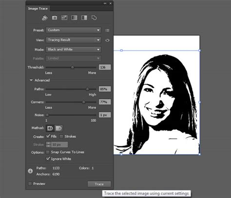 adobe illustrator cs6 vector learn how to trace and convert an image into vector in