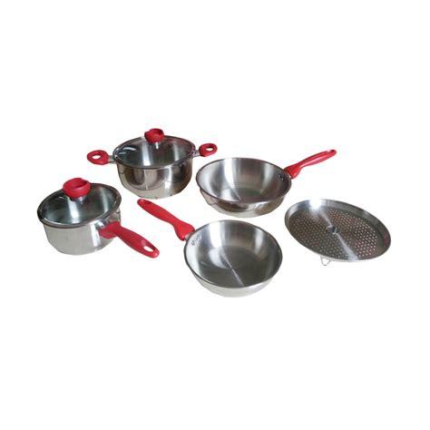 Panci Stainless Supra jual supra cookware stainless panci set silver 7 pcs