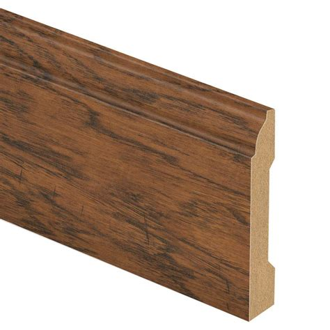 zamma hometown hickory 9 16 in thick x 3 1 4 in wide x 94 in length laminate wall base