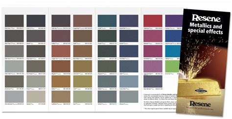 resene metallics together in new colour chart by resene ebossnow eboss
