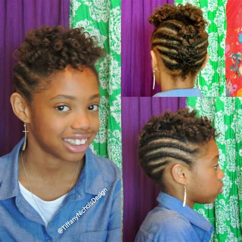 natural hairstyles for kids with short hair hairstyles fashion natural hairstyle for kids flat twist and roller set