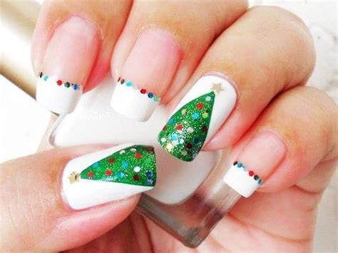 christmas decorated finger nails easy nail designs diy 2014