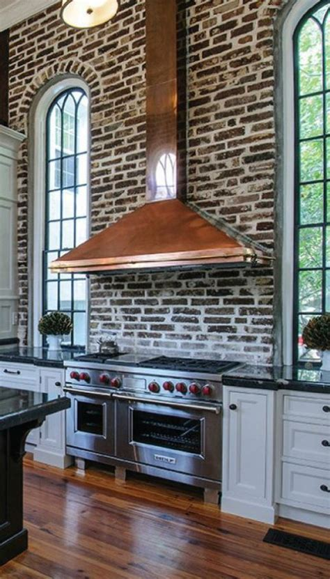 Brickhouse Kitchen by 67 Stylish Kitchens With A Brick Wall Comfydwelling