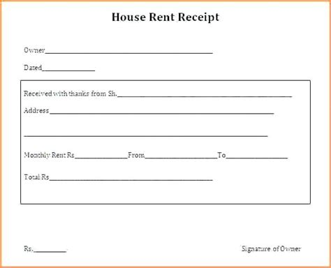Rent Receipt Templates For Word by Receipt Format In Word Kinoroom Club