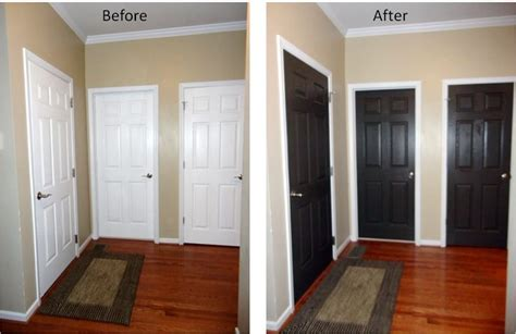 Painting Interior Doors Black Before And After by Black Interior Doors Before And After Interior Design