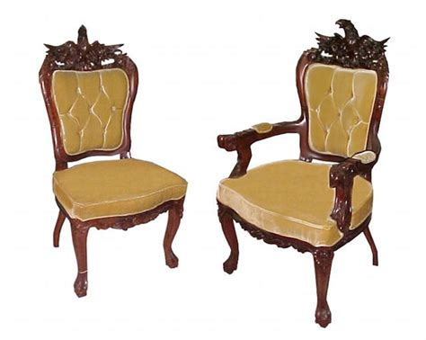 fabulous 8 carved eagle chair set c 1885 for sale
