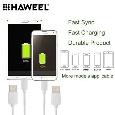 Kabel Data Micro Usb Lp U22 2 In 1 For Iphone And Android 8 haweel micro usb kabel sort