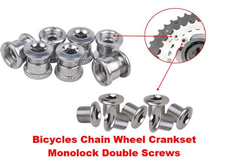 aliexpress buy 1pc mountain bicycle crankset screws nut for crankset bolt nut for chain