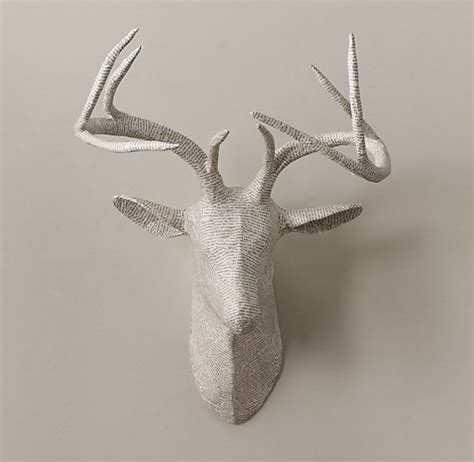 How To Make Paper Mache Antlers - papier m 226 ch 233 stag 129 recycled steel wire and