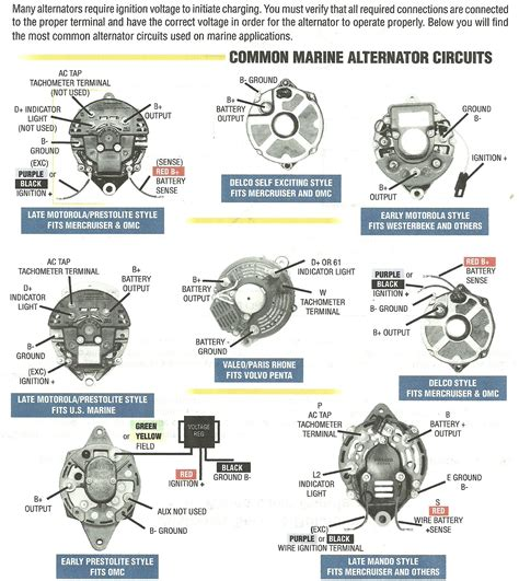 motorola marine 50 alternator connection description