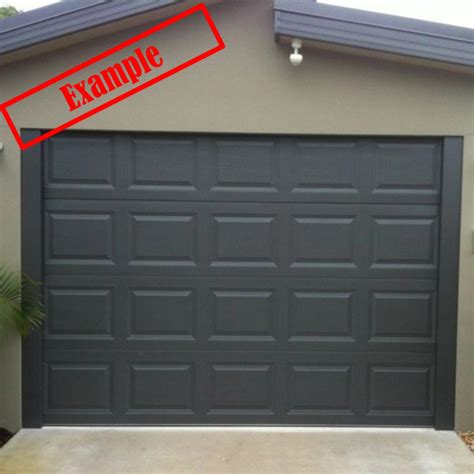 Panel Garage Door by Taurean Sectional Panel Garage Door Monument Color