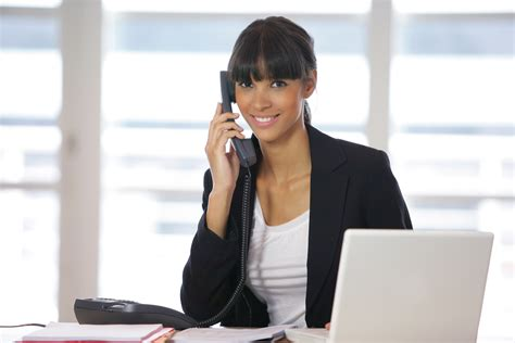 commercial phone girl image gallery on phone at desk