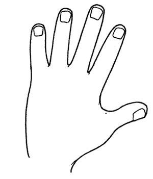 clipart mano colorear partes cuerpo humano y los cinco sentidos